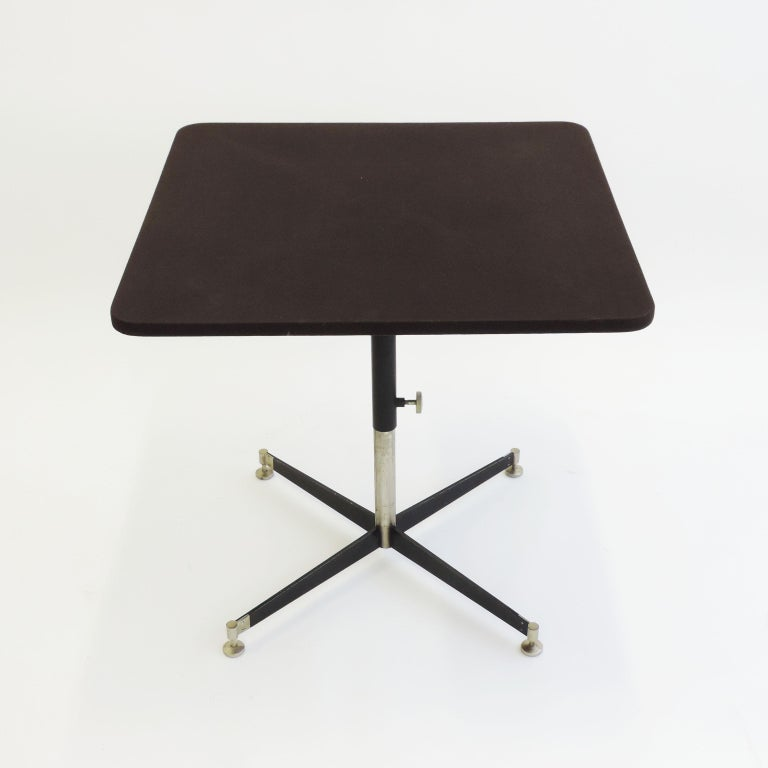 Mid-20th Century Ignazio Gardella 'T5' Adjustable Cocktail Table for Azucena, Italy, 1949 For Sale