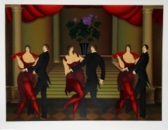 Tango Dancers, Art Deco Screenprint by Igor Galanin