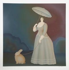 Walking the Rabbit, Serigraph by Igor Galanin