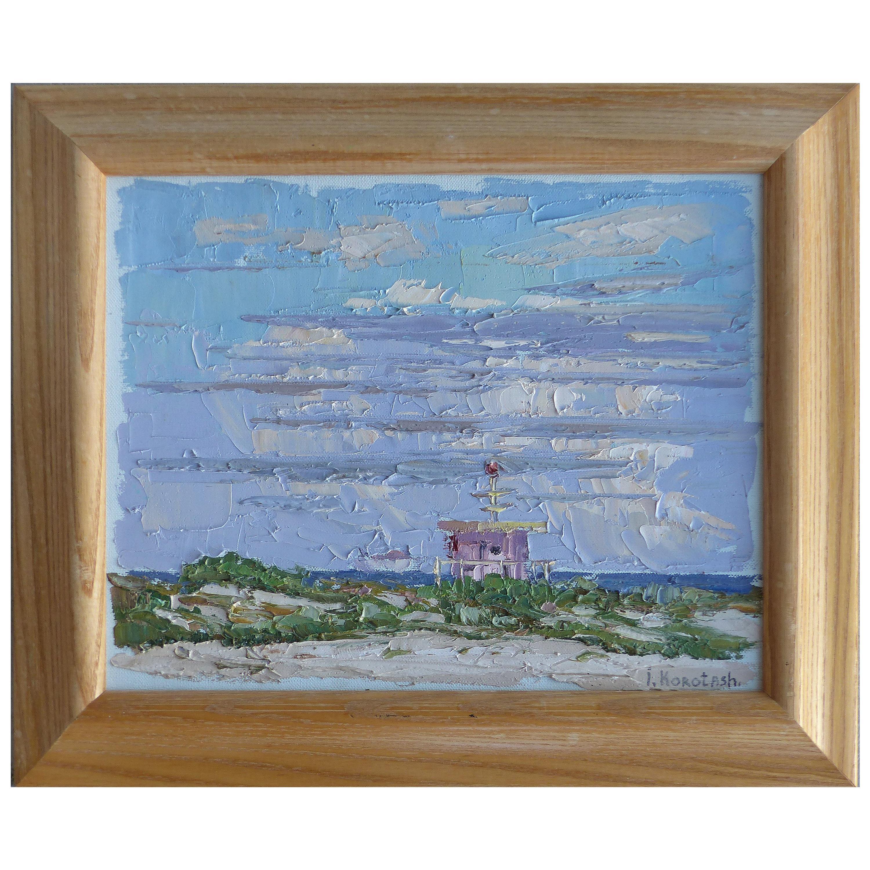 Igor Korotash Oil Painting on Canvas of Miami Beach 'B1957 Russian/American'