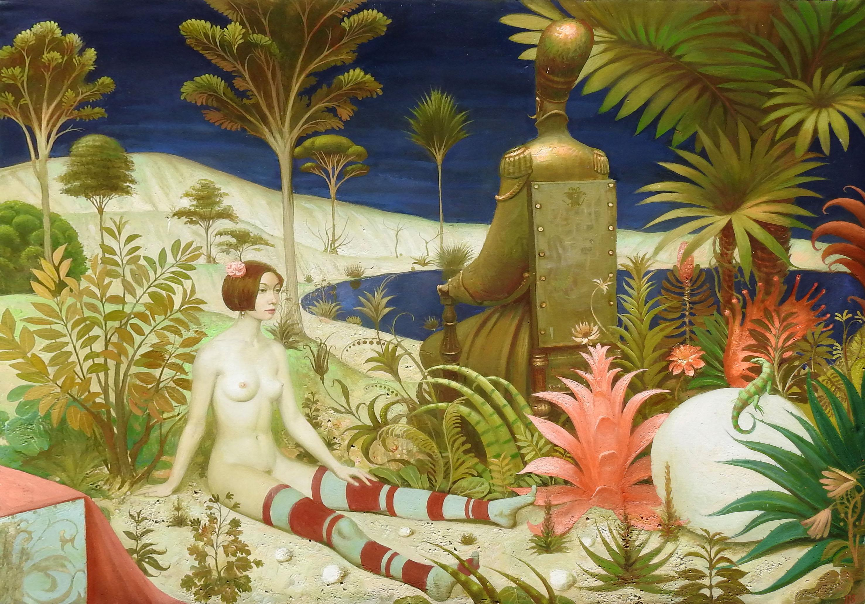 """The Bronze Emperor"", Igor Samsonov, Surrealism, Figurative, Original Oil, 42x53"