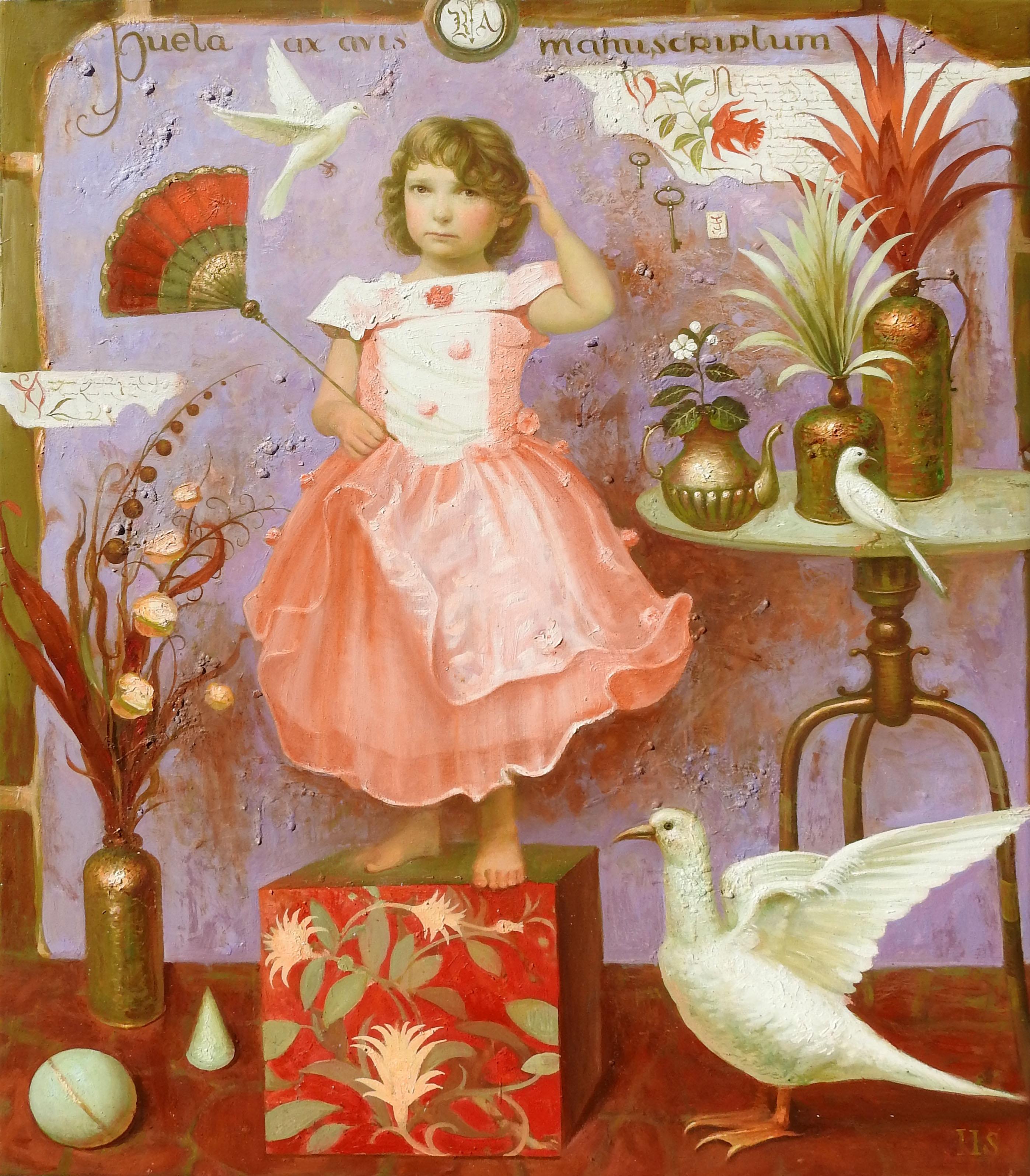 """The Child"", Igor Samsonov, Surrealism, Figurative, Original Oil, 46x37 in."