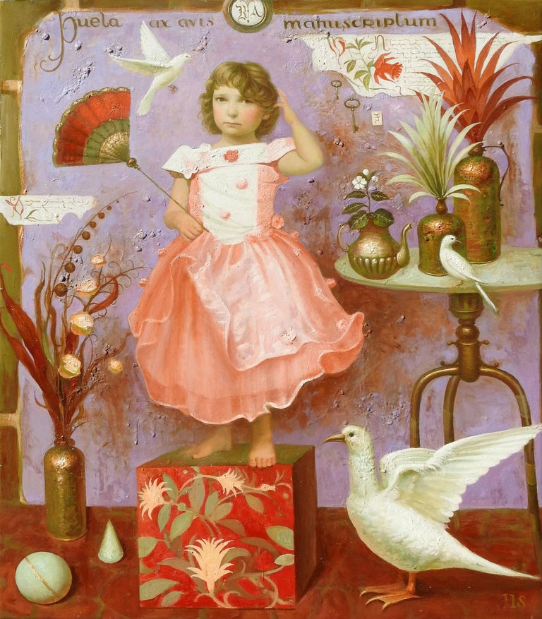 """The Child"", Igor Samsonov, Surrealism, Figurative, Original Oil, 46x37 in. - Painting by Igor Samsonov"
