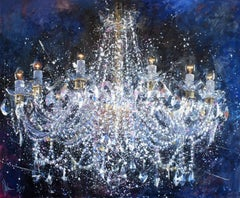 Chandelier #6. Christmas.  The latest edition., Painting, Oil on Canvas