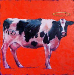 My cow., Painting, Oil on Canvas