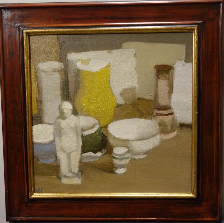 """Igor SMEKALOV Still-Life Painting - """"Still life with sculpture"""" Oil cm. 40 x 40 2005"""