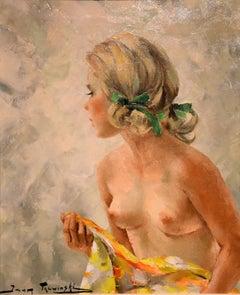 "Oil Painting by Igor Talwinski ""Ash Blonde Model, Nude Study"""