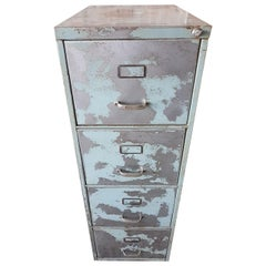 Industrial Metal Cabinet Steel Lockers Four Cabinets Loft Style Brushed Steel