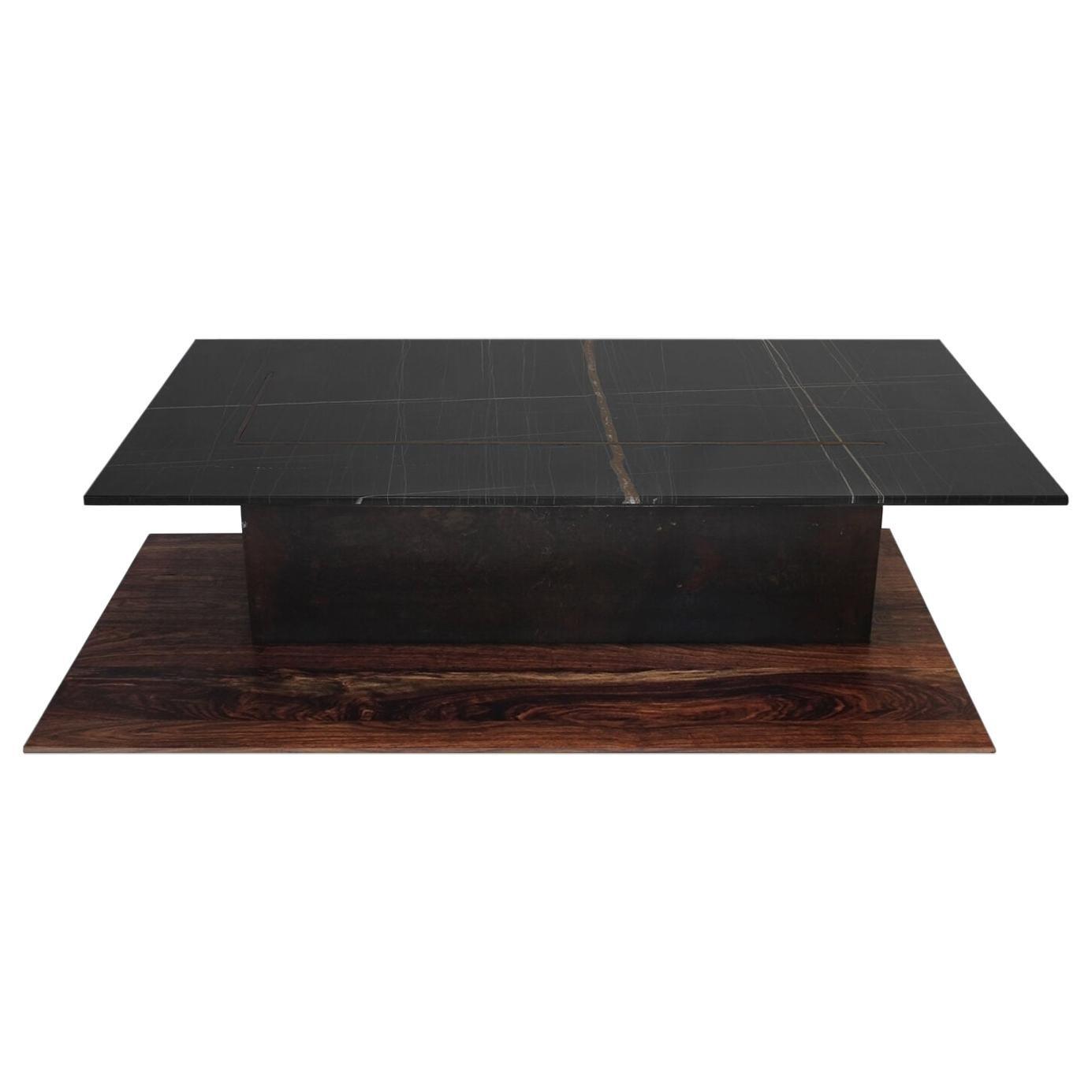 III Black Sahara Marble Coffee Table