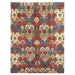 Ikat Design Rug, Silk and Wool