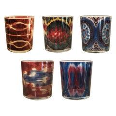Ikat Glasses Set of 5