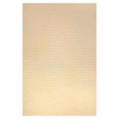 'Ikat Heart' Contemporary, Traditional Wallpaper in Mustard