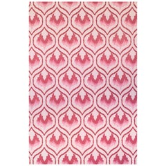 'Ikat Heart' Contemporary, Traditional Wallpaper in Oxblood