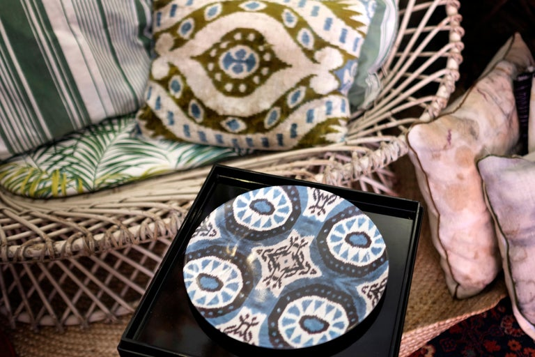 Ikat Porcelain Dinner Plates Set of Six Made in Italy In New Condition For Sale In ROCCAVIVARA CB, IT