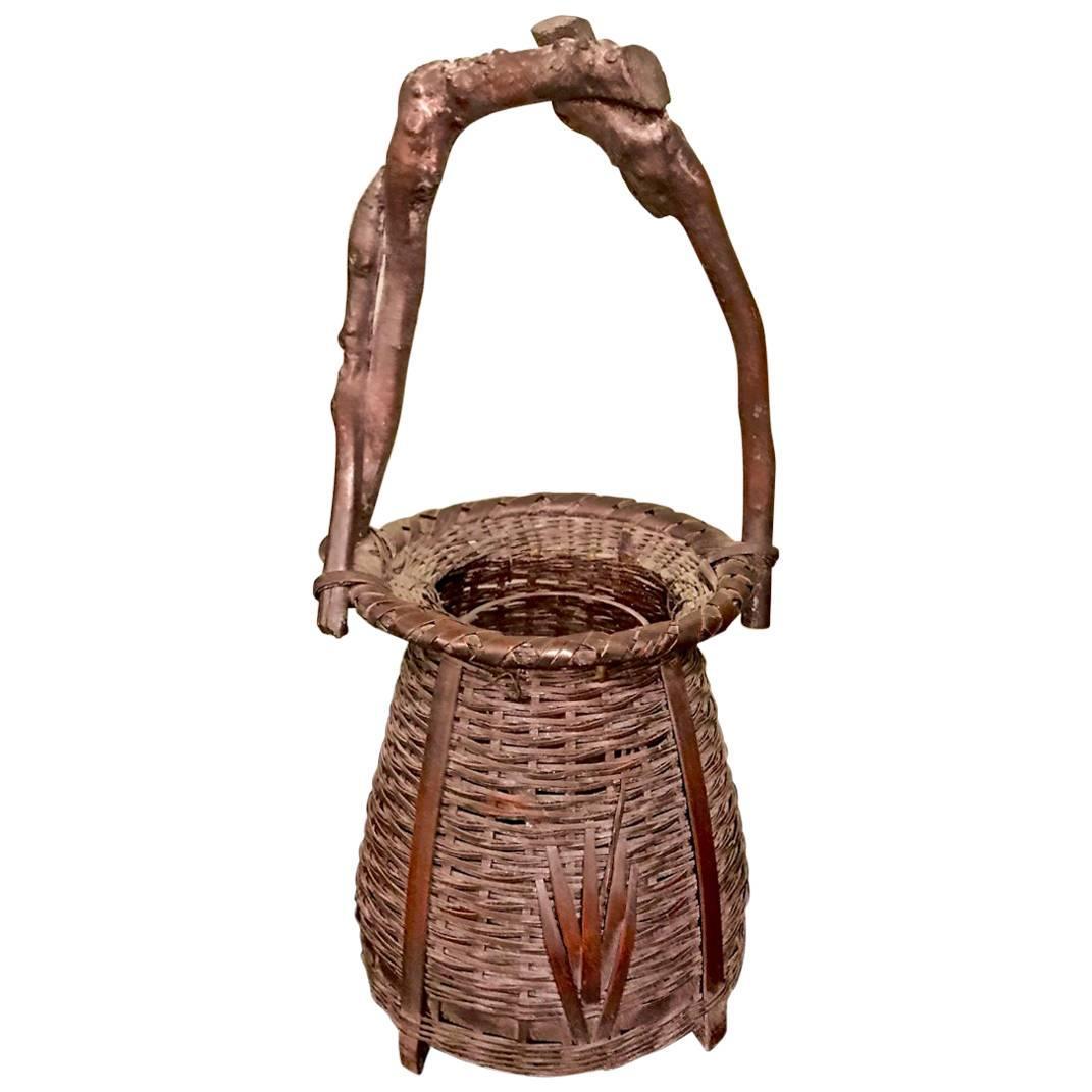 Ikebana Basket, Early 20th Century