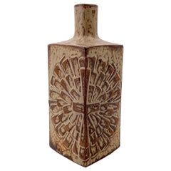 Ikebana Ceramic Japanese Vase Brutalist Design and Great Glaze