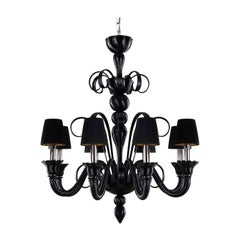 Iko 8-Light Chandelier in Glass and Organza