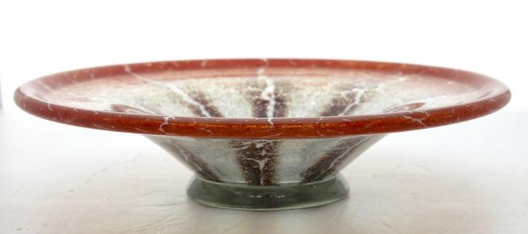 'Ikora' Art Glass Bowl, Produced, by WMF in Germany, 1930s by Karl Wiedmann 1