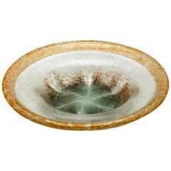 'Ikora' Art Glass Bowl, Produced, by WMF in Germany, 1930s by Karl Wiedmann