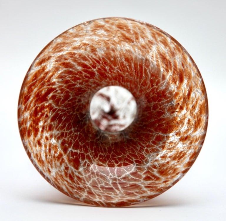 Art Deco 'Ikora' Art Glass Vase, Produced, by WMF in Germany, 1930s by Karl Wiedmann For Sale