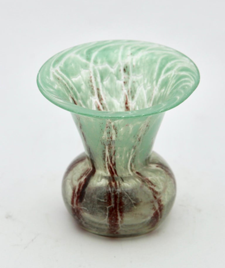 Art Deco 'Ikora' Art Glass Vase, Produced, by WMF in Germany, 1930s by Karl Wiedmann For Sale