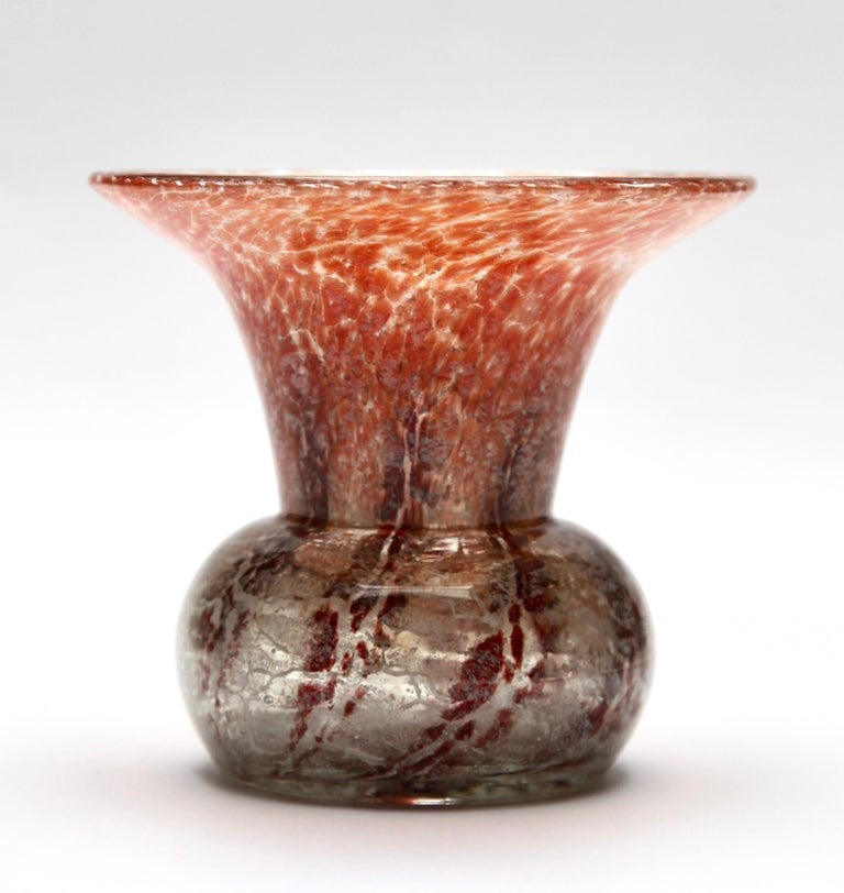 'Ikora' Art Glass Vase, Produced, by WMF in Germany, 1930s by Karl Wiedmann In Good Condition For Sale In Verviers, BE
