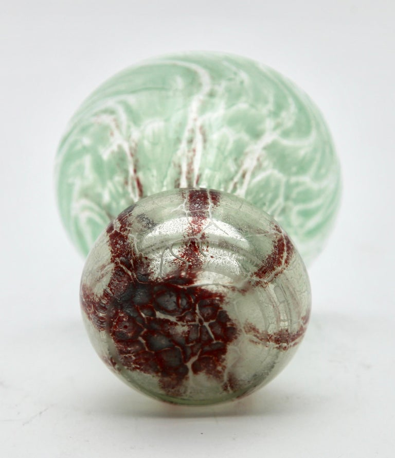 20th Century 'Ikora' Art Glass Vase, Produced, by WMF in Germany, 1930s by Karl Wiedmann For Sale
