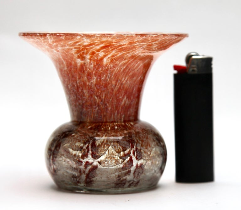 'Ikora' Art Glass Vase, Produced, by WMF in Germany, 1930s by Karl Wiedmann For Sale 1