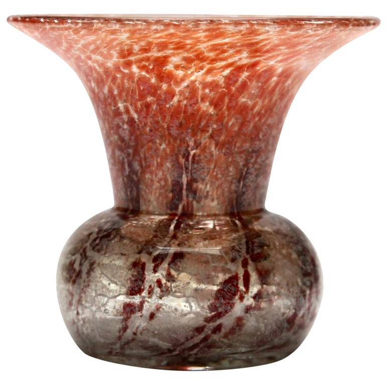 'Ikora' Art Glass Vase, Produced, by WMF in Germany, 1930s by Karl Wiedmann For Sale