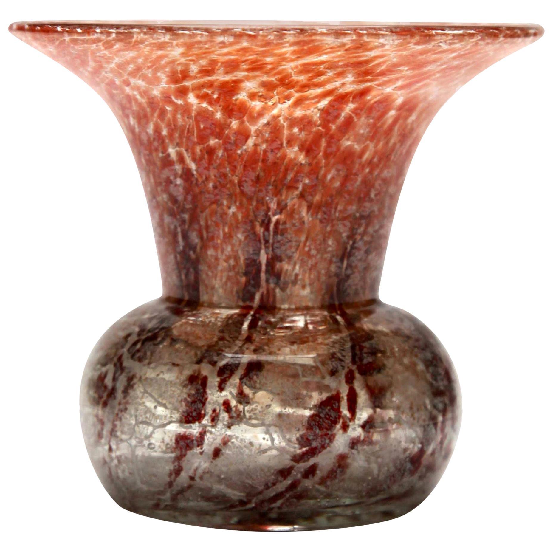 'Ikora' Art Glass Vase, Produced, by WMF in Germany, 1930s by Karl Wiedmann