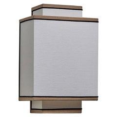 IL BORDO Pattern Walllight Sconce Double Rectangles Architectural  100% Linen