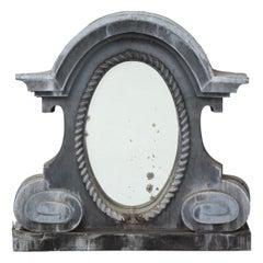Antique French Oeil de Boeuf Mirror
