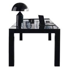 Il Grand Papá Office Desk in Black High Gloss Lacquered Oak