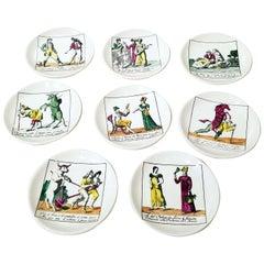 """""""Il Mondo Alla Rovescia"""" Set of 8 Piero Fornasetti Coasters"""