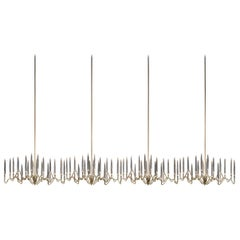 """""""Il Pezzo 3 Endless Chandelier"""" Made in Italy LED Lamp Made of Brass and Crystal"""