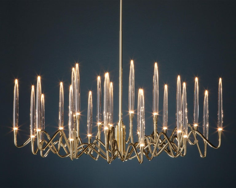 Inspired by Arabic calligraphic art and the icon of the classical candelabrum is