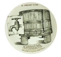 Il Primo Tino Plate for Martini & Rossi, by P. Fornasetti, 1960s