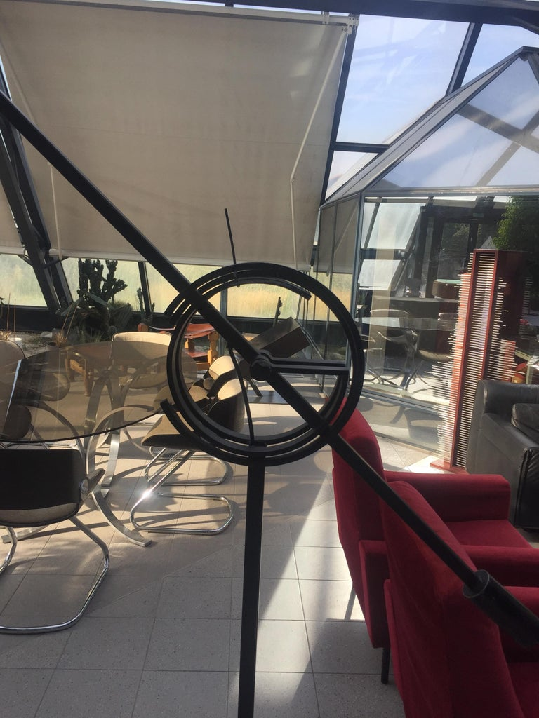 Quot Il Tempo Quot Floor Lamp 210 Cm Relco Italia Matt Black