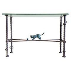 Ilana Goor Iron and Bronze Console