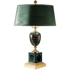 Ilex Malachite Table Lamp