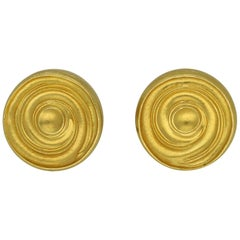 Ilias Lalaounis 18 Carat Yellow Gold Disc Spiral Ear Clip