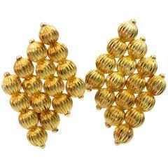 Ilias Lalaounis 18 Karat Yellow Gold Beaded Earrings