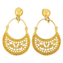 Ilias Lalaounis 18 Karat Yellow Gold Earrings