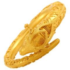 Ilias Lalaounis 18 Karat Yellow Gold Ram Bracelet