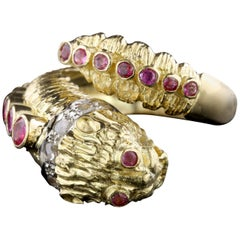 Ilias Lalaounis 18 Karat Yellow Gold Ruby and Diamond Chimera Ring