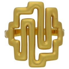 Ilias Lalaounis 22 Carat Yellow Gold with Brushed Finish Bracelet, circa 1977