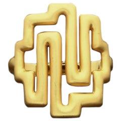 Ilias Lalaounis 22 Carat Yellow Gold with Brushed Finish Bracelet