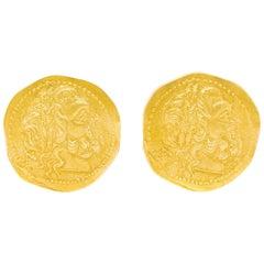 Ilias Lalaounis Ancient Gold Coin Motif Cufflinks