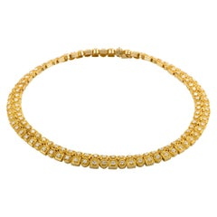 Ilias Lalaounis Diamond and Yellow Gold Choker Necklace