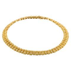 Ilias Lalaounis Diamond and Yellow Gold Choker Necklace